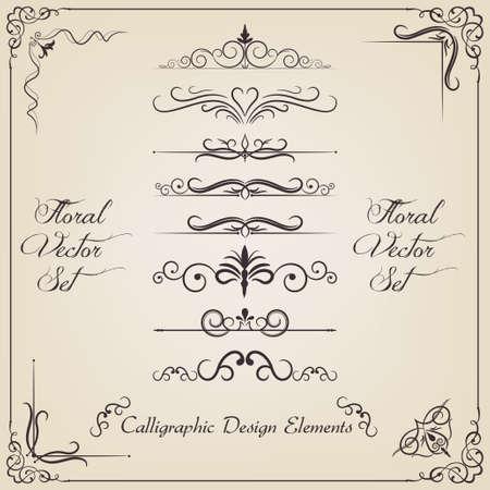 gold label: Fligree set Illustration