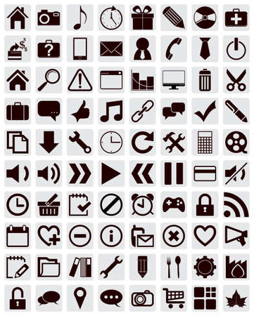Web icons set Stock Vector - 16254523