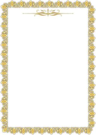 Golden floral frame Stock Vector - 16254524