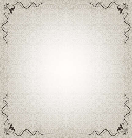 Floral frame and texture Vector