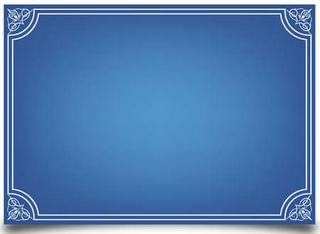Abstract blue card Vector