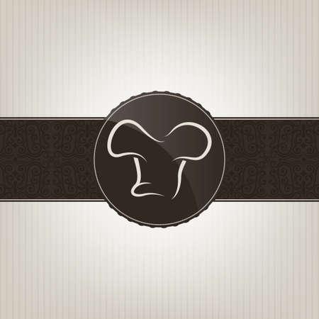 flower logo: Restaurant menu cover