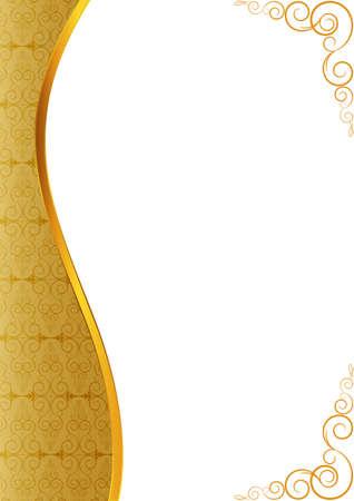 Invitation of golden stripe