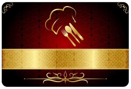 pleasing: Restaurant card Illustration