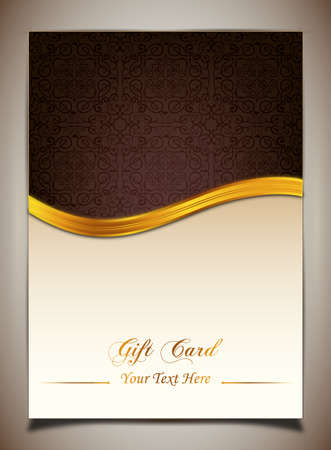 Brown gift card. Vector