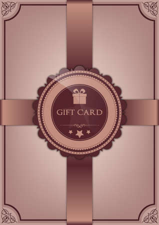 Abstract gift card Stock Vector - 16765806
