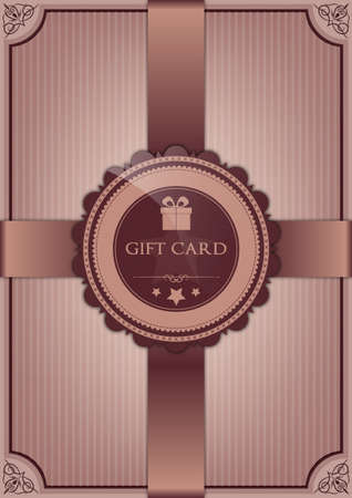 black bow: Abstract gift card Illustration
