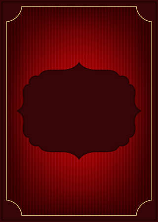 Red abstract invitation Stock Vector - 16765804