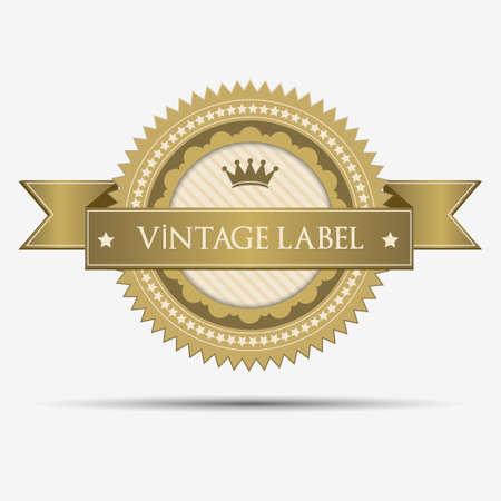 Retro vintage label Vector