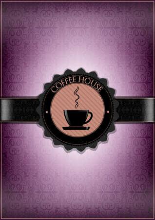 expresso: Purple coffee house menu design