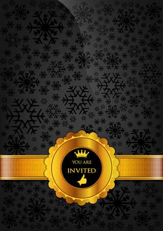 Black Invitation Design Stock Vector - 16879278