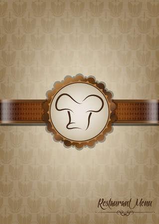Brown restaurant menu design Illustration