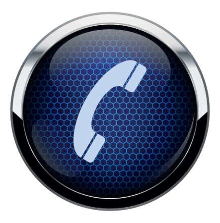 Blue honeycomb icon Stock Vector - 16878894