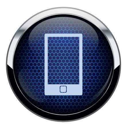 Blue honeycomb icon Stock Vector - 16878287