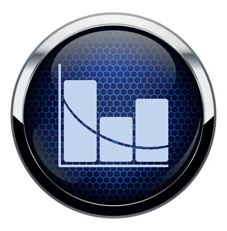 data collection: Blue honeycomb icon