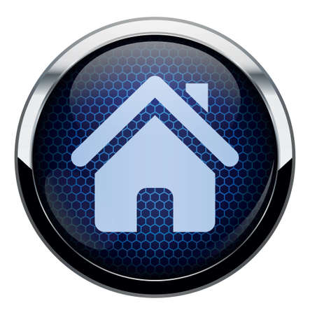 home button: Blue honeycomb icon
