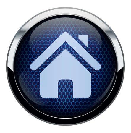 Blue honeycomb icon