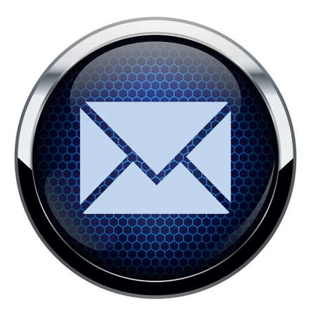 Blue honeycomb icon Stock Vector - 16878037