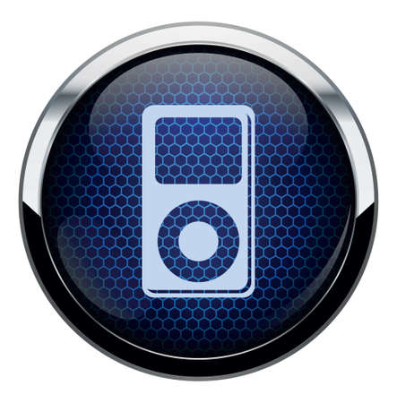 headset symbol: Blue honeycomb icon