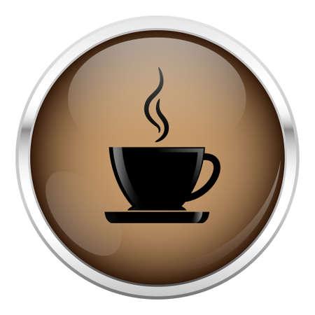 personas tomando cafe: Brown caf� icono