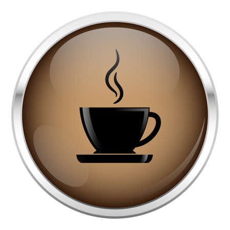 Brown coffee icon Vector