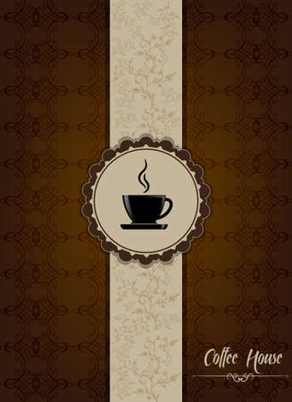 Brown coffee house menu design Stock Vector - 16974050