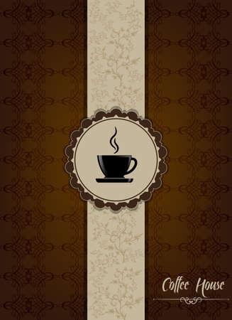 expresso: Brown coffee house menu design