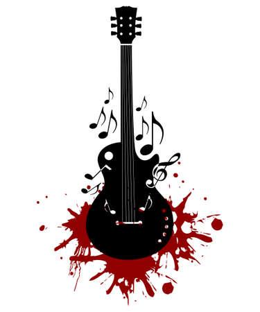 Abstracte gitaar achtergrond Vector Illustratie