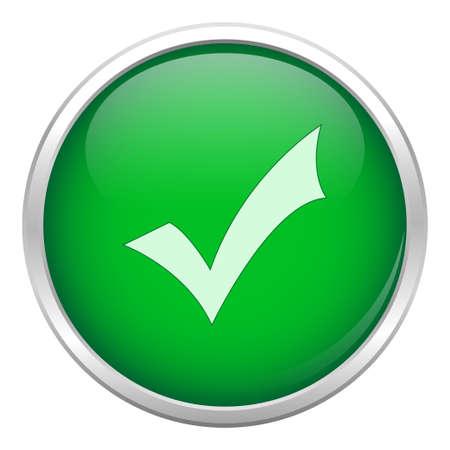 Groene okay icoon