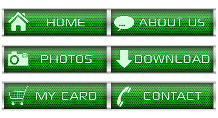 Green honeycomb icon set Vector