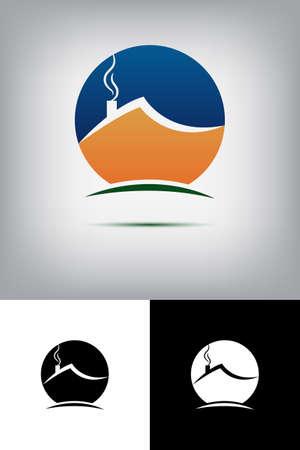 logotipo turismo: Casa logo Vectores