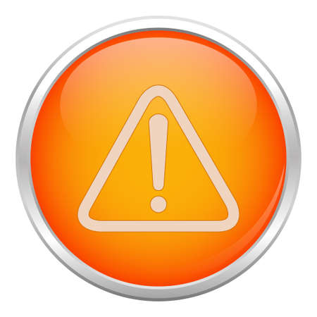 Orange warning icon Stock Vector - 17004390