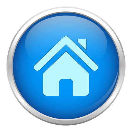 Blue home icon Stock Vector - 17113581