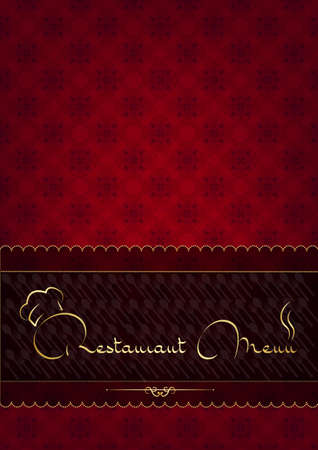 Red abstract restaurant menu design Vector