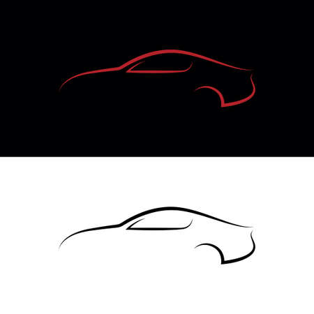 Black and red car Vector