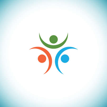youth sports: Happy people logo