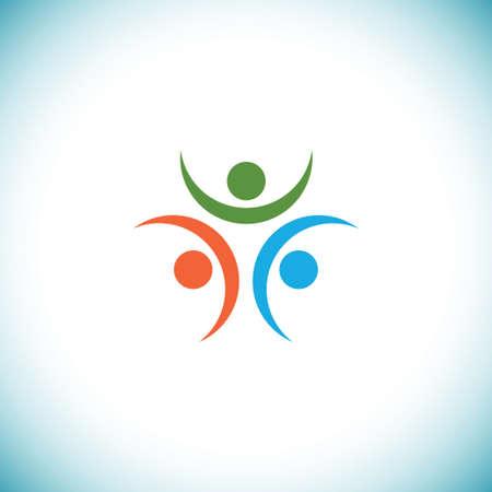 Heureux les gens logo Banque d'images - 17210838