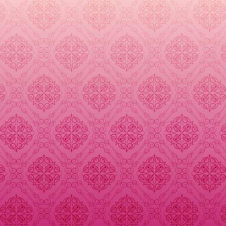 pink heart: Pink floral texture Illustration