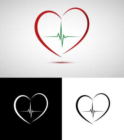 medische kunst: Medische hart Stock Illustratie