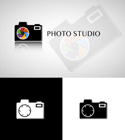 Photo studio camera Vector