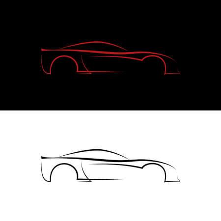 modificar: Logotipos de coches rojos y negros Vectores