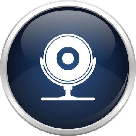 iso: Blue camera icon Illustration
