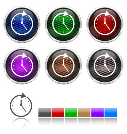 plating: Colorful honeycomb watch icon
