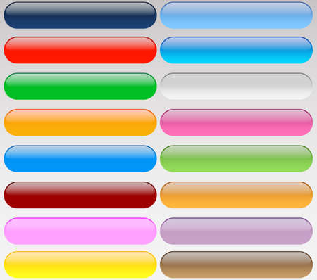 Colorful web buttons Vector