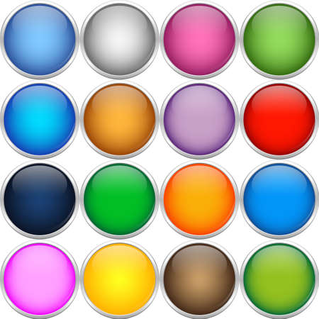 Colorfull icon balls Vector