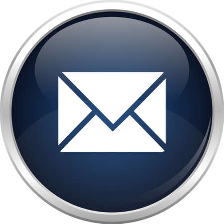 mail icon: Glass sphere and mail icon