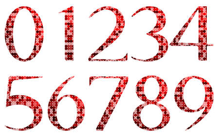 Abstract red numbers Stock Vector - 17422708