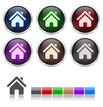 Colorful honeycomb home icons Stock Vector - 17422693
