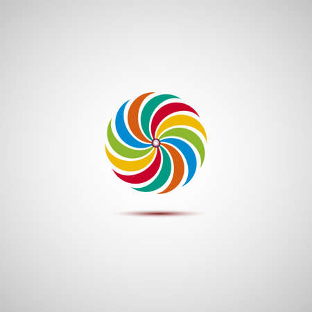 abstract recycle arrows: Colorful logo Illustration