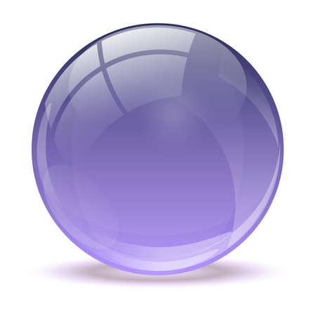 3D purple icon ball Vector